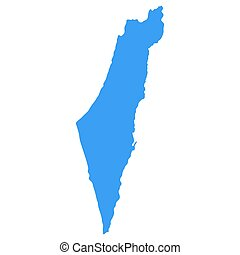 Map of Israel, vector illustration of a state symbol