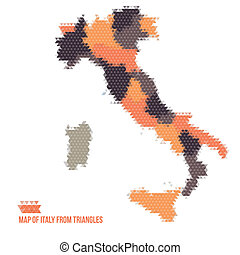 Map Of Italy From Triangles
