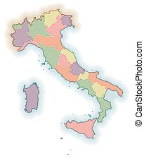 Map of italy regions