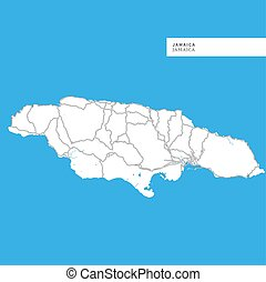 Map of Jamaica Island