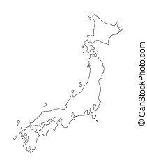 japan - map of japan