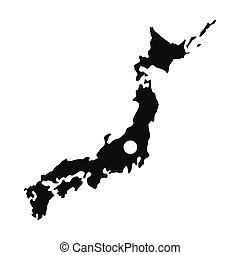 Map of Japan icon, simple style