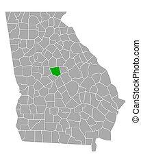 Map of Jones in Georgia