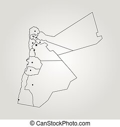 Map of jordan illustrations and clipart 917 map of jordan royalty map of jordan vector illustration world map gumiabroncs Images