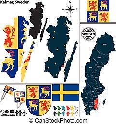 Map of Kalmar, Sweden