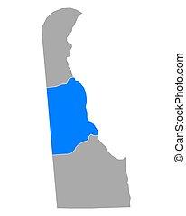 Map of Kent in Delaware