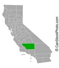 Map of Kern in California