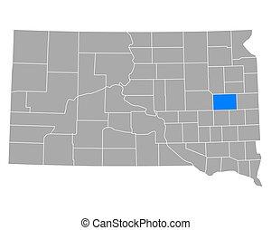 Map of Kingsburg in South Dakota