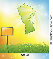 Map of Kleve