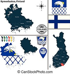 Map of Kymenlaakso, Finland - Vector map of Kymenlaakso...