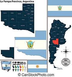 Map of La Pampa Province, Argentina
