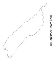 Map of Lake Albert