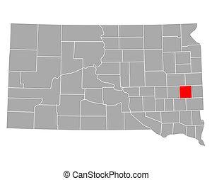 Map of Lake in South Dakota