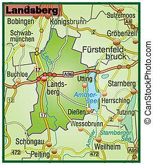 Map of landsberg