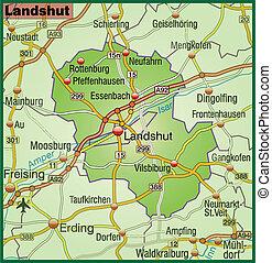 Map of landshut