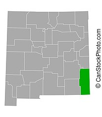 Map of Lea in New Mexico