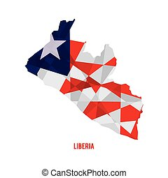 Map of Liberia.
