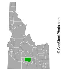 Map of Lincoln in Idaho