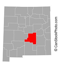 Map of Lincoln in New Mexico