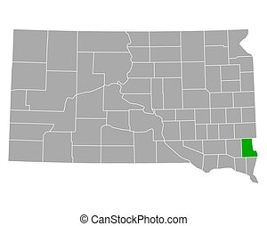 Map of Lincoln in South Dakota
