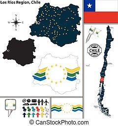 Map of Los Rios, Chile