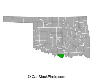 Map of Love in Oklahoma