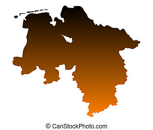 Map of Lower Saxony