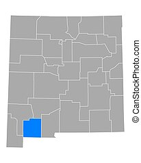 Map of Luna in New Mexico