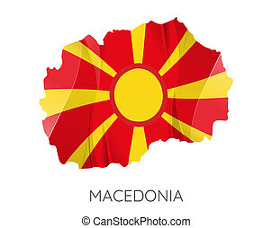 Map of Macedonia - Map Of Macedonia With Flag As Texture...