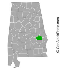Map of Macon in Alabama