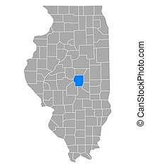 Map of Macon in Illinois