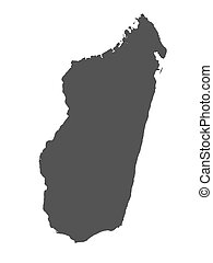 Rendered map of Madagascar