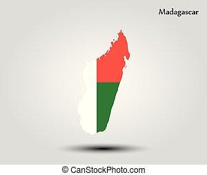 Map of Madagascar. Vector illustration. World map