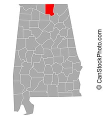 Map of Madison in Alabama