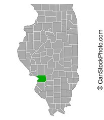 Map of Madison in Illinois