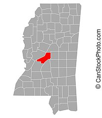 Map of Madison in Mississippi