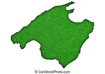 Map of Mallorca on green felt