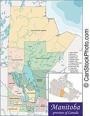 Map of Manitoba - Manitoba is a province at the longitudinal...