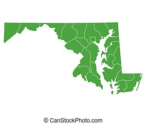 Map of Maryland