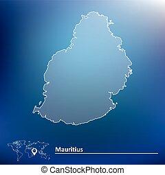 Map of Mauritius - vector illustration