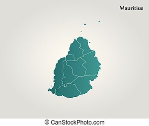 Outline of mauritius map.