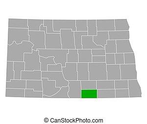 Map of McIntosh in North Dakota