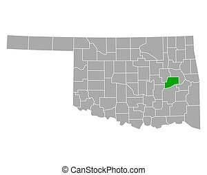 Map of McIntosh in Oklahoma