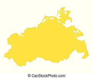 Map of Mecklenburg-Vorpommern