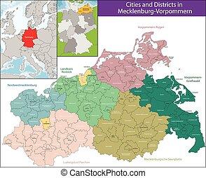 Map of Mecklenburg-Vorpommern - Mecklenburg-Vorpommern is a...