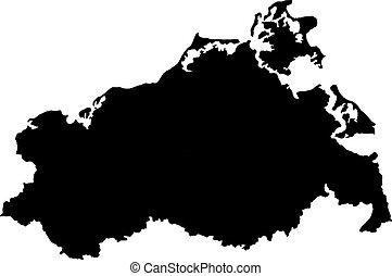 Map of Mecklenburg-Western Pomerania