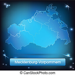 Map of Mecklenburg-Western Pomerania with borders with ...