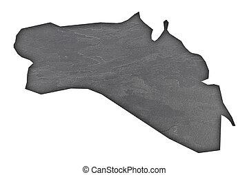 Map of Menorca on dark slate