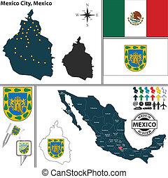 Map of Mexico City, Mexico