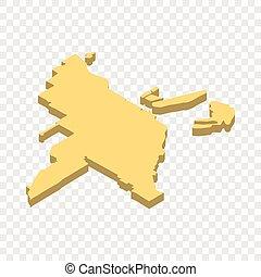 Map of Miami isometric icon